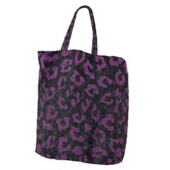Skin5 Black Marble & Purple Leather Giant Grocery Zipper Tote by trendistuff