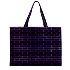 Brick1 Black Marble & Purple Watercolor (r) Zipper Mini Tote Bag by trendistuff