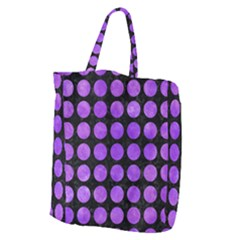 Circles1 Black Marble & Purple Watercolor (r) Giant Grocery Zipper Tote by trendistuff