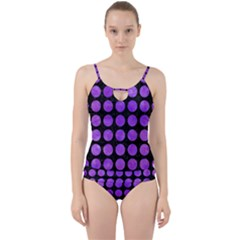Circles1 Black Marble & Purple Watercolor (r) Cut Out Top Tankini Set