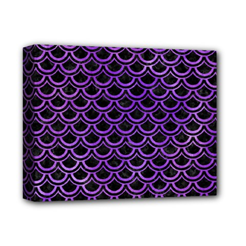Scales2 Black Marble & Purple Watercolor (r) Deluxe Canvas 14  X 11  by trendistuff