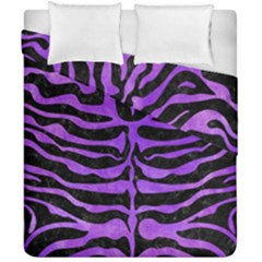 Skin2 Black Marble & Purple Watercolor (r) Duvet Cover Double Side (california King Size) by trendistuff