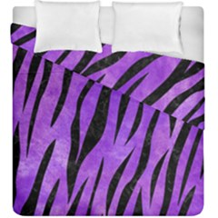 Skin3 Black Marble & Purple Watercolor Duvet Cover Double Side (king Size) by trendistuff