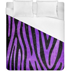 Skin4 Black Marble & Purple Watercolor (r) Duvet Cover (california King Size) by trendistuff