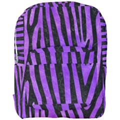 Skin4 Black Marble & Purple Watercolor (r) Full Print Backpack