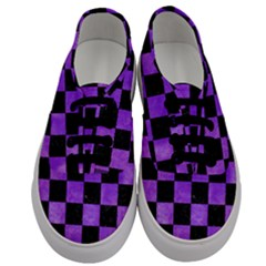 Square1 Black Marble & Purple Watercolor Men s Classic Low Top Sneakers