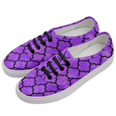 Tile1 Black Marble & Purple Watercolor Women s Classic Low Top Sneakers by trendistuff