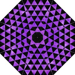 Triangle3 Black Marble & Purple Watercolor Golf Umbrellas by trendistuff