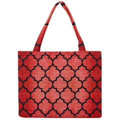 Tile1 Black Marble & Red Brushed Metal Mini Tote Bag by trendistuff