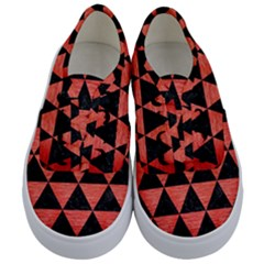 Triangle3 Black Marble & Red Brushed Metal Kids  Classic Low Top Sneakers