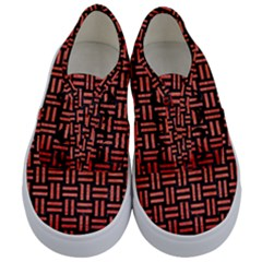 Woven1 Black Marble & Red Brushed Metal (r) Kids  Classic Low Top Sneakers