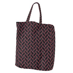 Brick2 Black Marble & Red Colored Pencil (r) Giant Grocery Zipper Tote by trendistuff