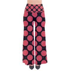 Circles2 Black Marble & Red Colored Pencil (r) Pants by trendistuff