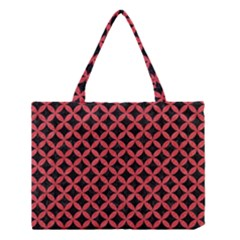 Circles3 Black Marble & Red Colored Pencil (r) Medium Tote Bag by trendistuff