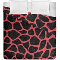 Skin1 Black Marble & Red Colored Pencil Duvet Cover Double Side (king Size) by trendistuff