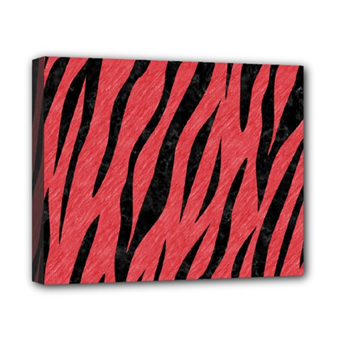 Skin3 Black Marble & Red Colored Pencil Canvas 10  X 8  by trendistuff