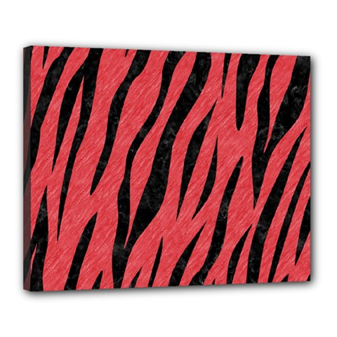 Skin3 Black Marble & Red Colored Pencil Canvas 20  X 16  by trendistuff