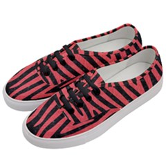 Skin4 Black Marble & Red Colored Pencil Women s Classic Low Top Sneakers by trendistuff