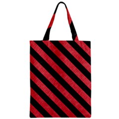 Stripes3 Black Marble & Red Colored Pencil Zipper Classic Tote Bag by trendistuff