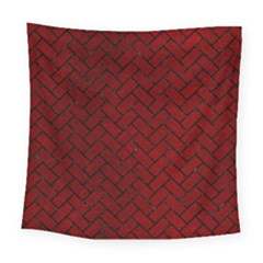 Brick2 Black Marble & Red Grunge Square Tapestry (large) by trendistuff