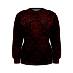 Damask1 Black Marble & Red Grunge (r) Women s Sweatshirt by trendistuff