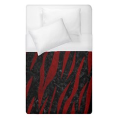 Skin3 Black Marble & Red Grunge (r) Duvet Cover (single Size) by trendistuff