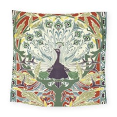 Art Nouveau Peacock Square Tapestry (large) by 8fugoso
