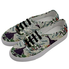 Art Nouveau Peacock Men s Classic Low Top Sneakers by 8fugoso