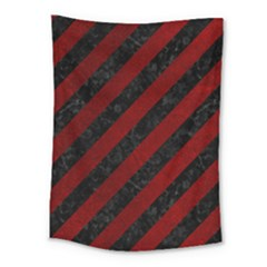 Stripes3 Black Marble & Red Grunge (r) Medium Tapestry by trendistuff
