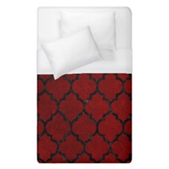 Tile1 Black Marble & Red Grunge Duvet Cover (single Size) by trendistuff