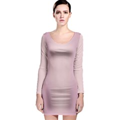 Beautiful,rose Gold,pattern Long Sleeve Bodycon Dress by 8fugoso