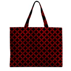 Circles3 Black Marble & Red Leather (r) Zipper Mini Tote Bag by trendistuff