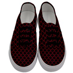 Scales1 Black Marble & Red Leather (r) Men s Classic Low Top Sneakers