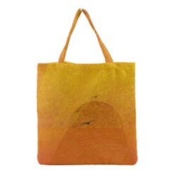 Sunset Grocery Tote Bag by berwies