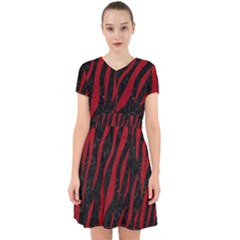 Skin3 Black Marble & Red Leather (r) Adorable In Chiffon Dress