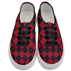 Square2 Black Marble & Red Leather Women s Classic Low Top Sneakers