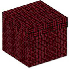 Woven1 Black Marble & Red Leather (r) Storage Stool 12   by trendistuff