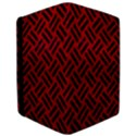 WOVEN2 BLACK MARBLE & RED LEATHER Apple iPad Pro 12.9   Flip Case View3