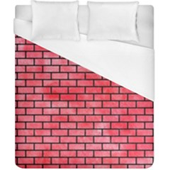 Brick1 Black Marble & Red Watercolor Duvet Cover (california King Size)