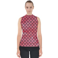 Scales2 Black Marble & Red Watercolor Shell Top