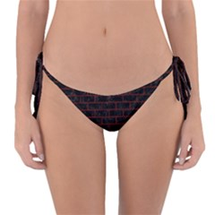 Brick1 Black Marble & Red Wood (r) Reversible Bikini Bottom by trendistuff