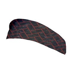 Brick2 Black Marble & Red Wood (r) Stretchable Headband by trendistuff