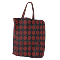 Circles1 Black Marble & Red Wood (r) Giant Grocery Zipper Tote by trendistuff