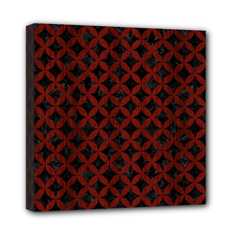 Circles3 Black Marble & Red Wood (r) Mini Canvas 8  X 8  by trendistuff