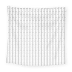 Line Black Square Tapestry (large)