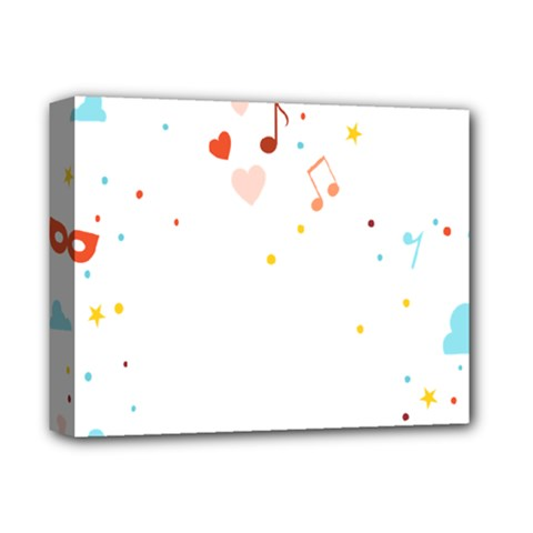 Music Cloud Heart Love Valentine Star Polka Dots Rainbow Mask Sky Deluxe Canvas 14  X 11  by Alisyart
