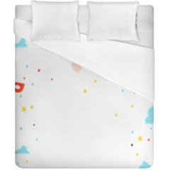 Music Cloud Heart Love Valentine Star Polka Dots Rainbow Mask Sky Duvet Cover (california King Size)
