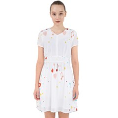 Music Cloud Heart Love Valentine Star Polka Dots Rainbow Mask Sky Adorable In Chiffon Dress