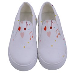 Music Cloud Heart Love Valentine Star Polka Dots Rainbow Mask Sky Kids  Canvas Slip Ons