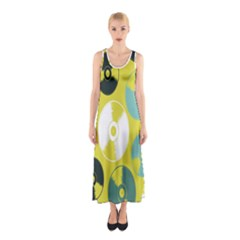 Streaming Forces Music Disc Sleeveless Maxi Dress by Alisyart